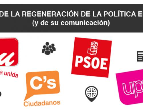 Ranking de la regeneración de la política en España (y de su comunicación)