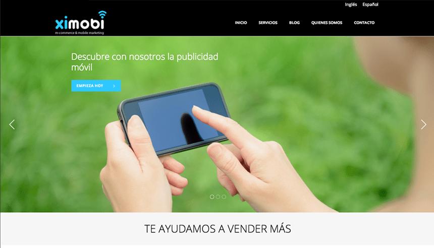 Diseño web para Ximobi
