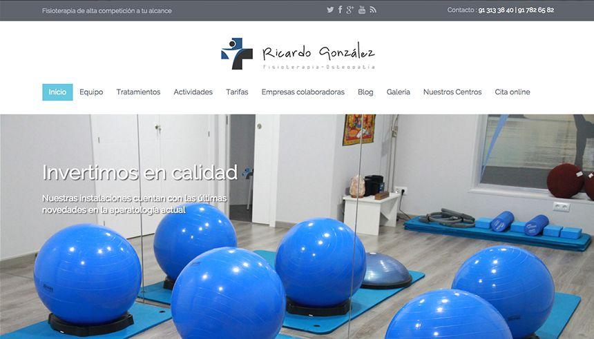 Proyecto web para Ricardo González, fisioterapia