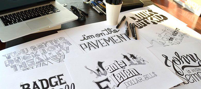 Tipografías hechas a mano