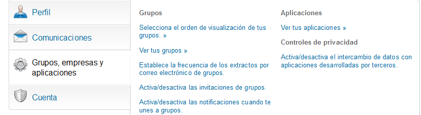 configuracion grupos de linkedin, red social profesional.