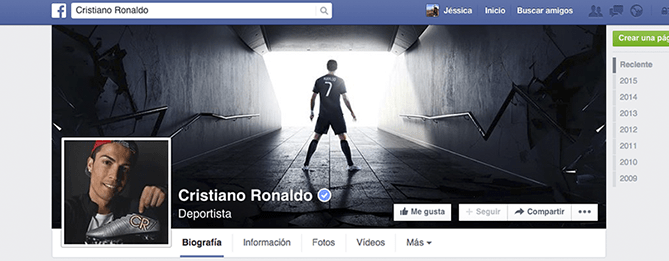 El Facebook de CR7 y su estrategia de marketing online