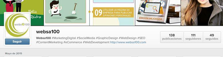 Ejemplo de perfil optimizado en Instagram para empresas