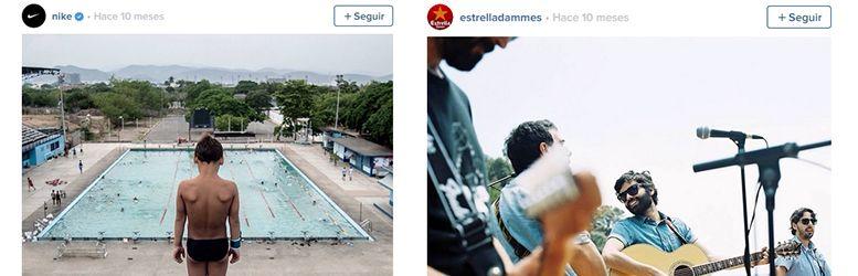 Ejemplo de perfiles en Instagram