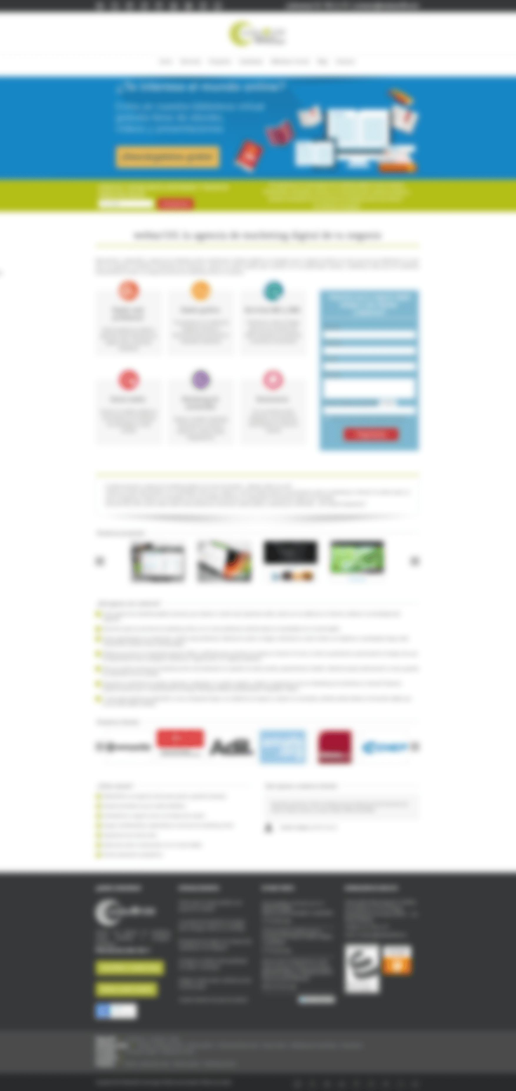 Resultado del test visual en la web corporativa de websa100