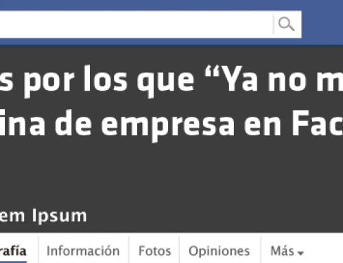 """Infografía: 10 errores por los que """"Ya no me gusta"""" tu página de empresa en Facebook"""