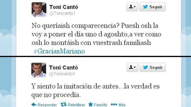 Tuit de Toni Cantó