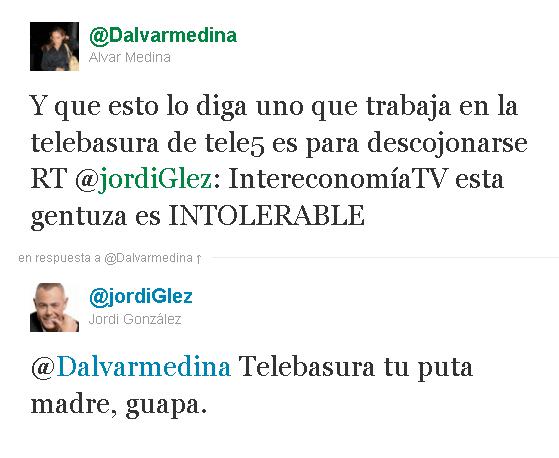 Tuit de Jordi González
