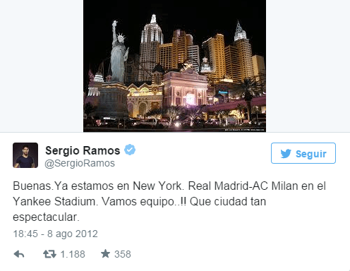Tuit de Sergio Ramos