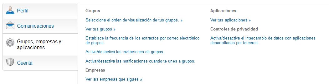 actividad de los grupos de Linkedin