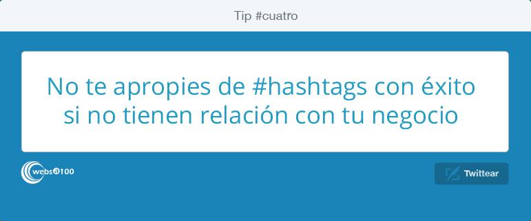 No te apropies de #hashtags con éxito si no tienen relación con tu negocio