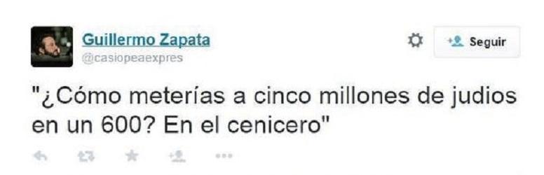 Cómo perder tu trabajo en un tuit: Guillermo Zapata