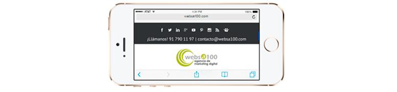 Ejemplo de web adaptada a dispositivos