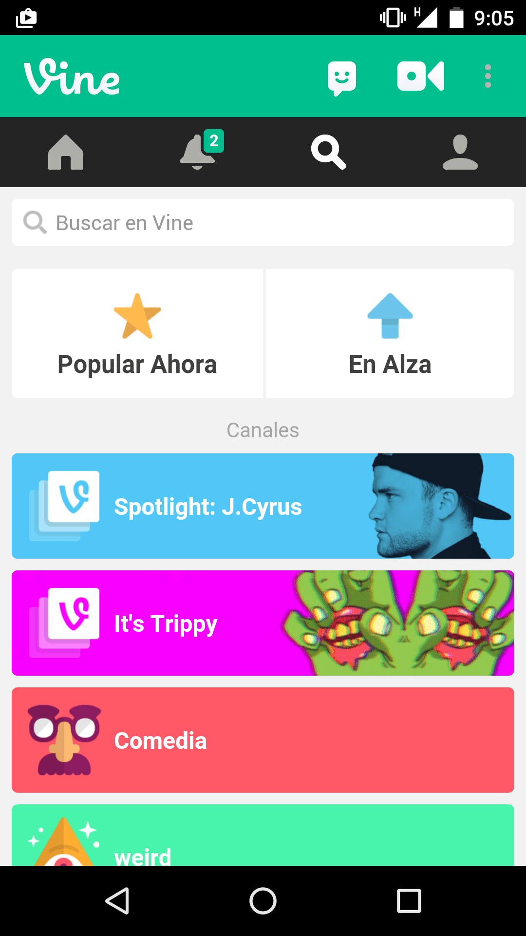 Captura de Vine
