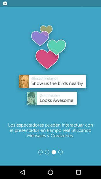 Captura de la aplicación Periscope