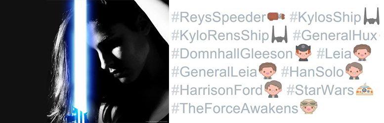 ejemplos hashtags en twitter y foto de perfil de facebook star wars