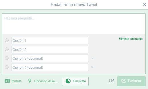 Ejemplo de encuestas en Twitter