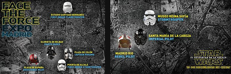 mapa face the force estrategia de marketing star wars