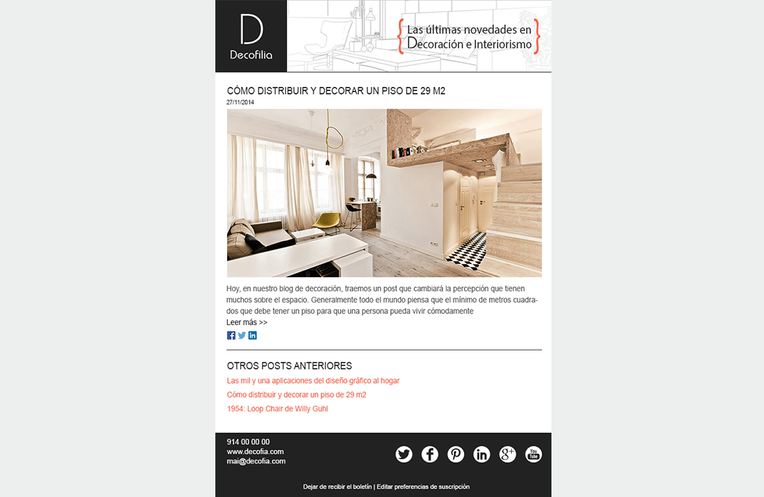 Newsletter Decofilia