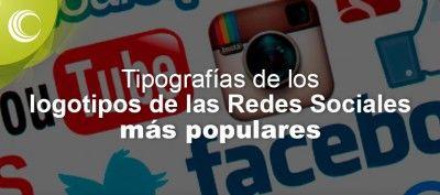 tipografias logotipos redes sociales