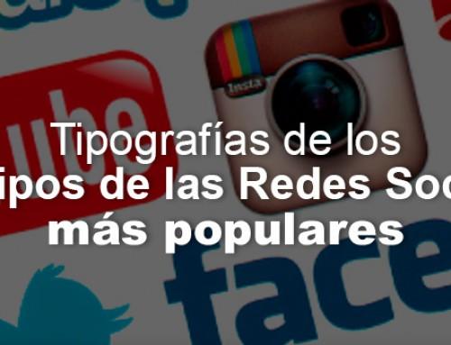 Tipografías de los logotipos de las Redes Sociales más populares