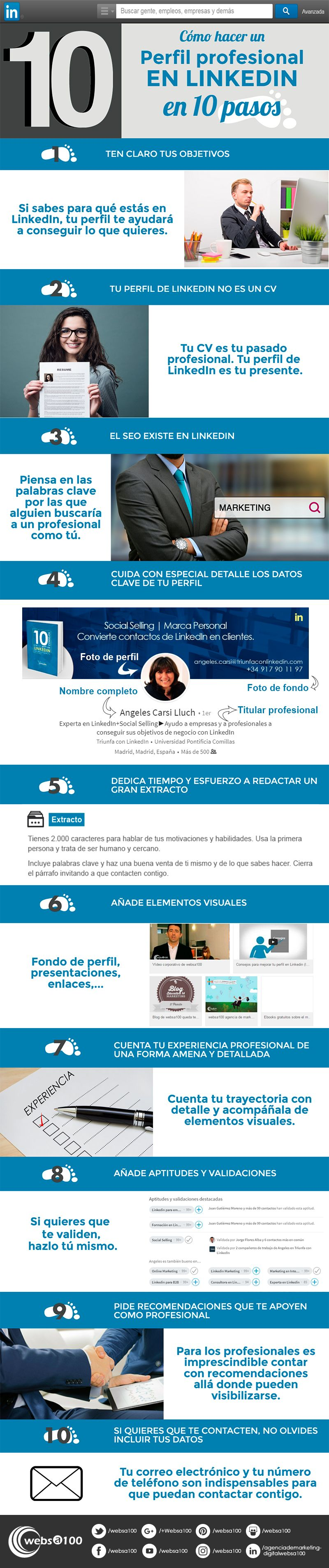 Cómo hacer un perfil profesional en LinkedIn en 10 pasos