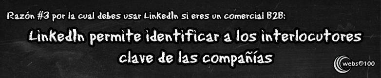 LinkedIn permite identificar a los interlocutores clave de las compañías