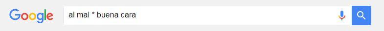 Cómo buscar en Google: *
