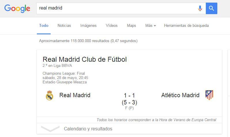 Cómo buscar en Google: deportes