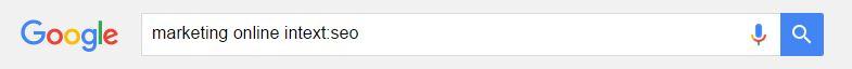 Cómo buscar en Google: intext
