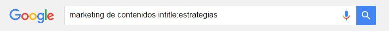 Cómo buscar en Google: intitle