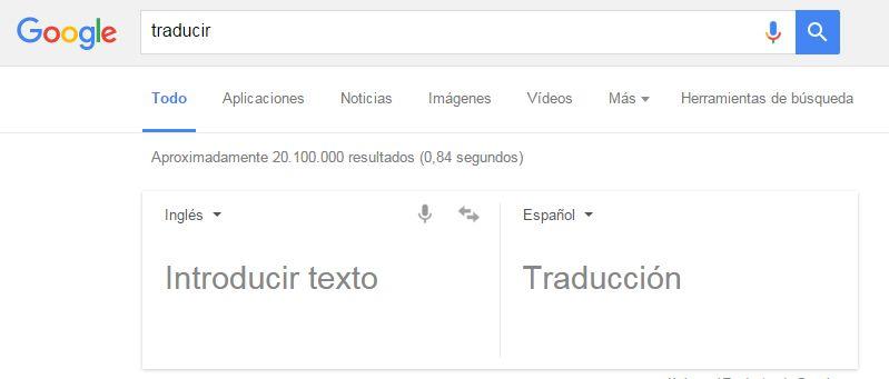 Cómo buscar en Google: traducir