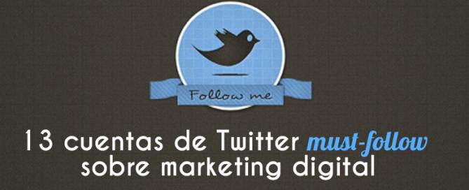 13 cuentas Twitter must-follow sobre marketing digital