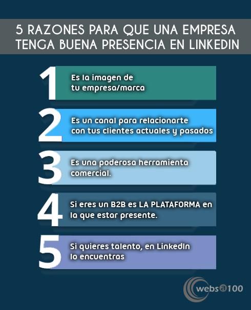5 razones para estar bien en Linkedin empresas