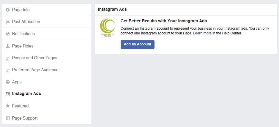 Anuncios en Instagram: conecta Instagram a Facebook