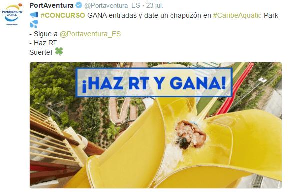 Concursos Online: Port Aventura en twitter