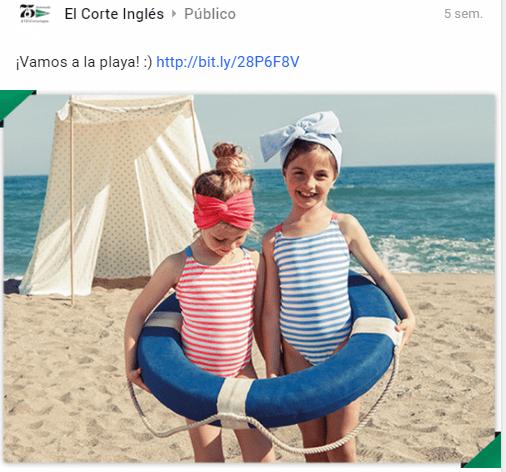 Estrategia en Redes Sociales: Google Plus de El Corte Inglés