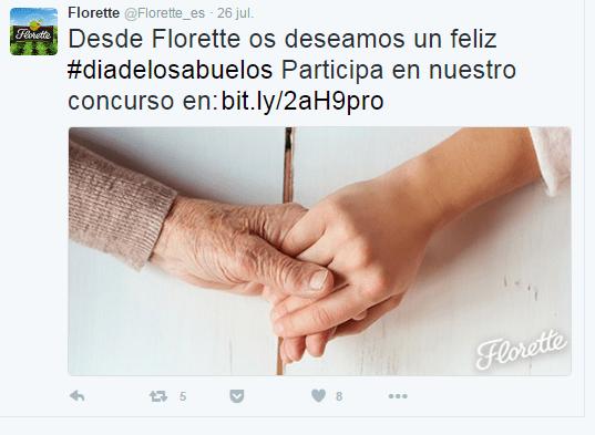 Estrategia en redes sociales: twitter de Florette