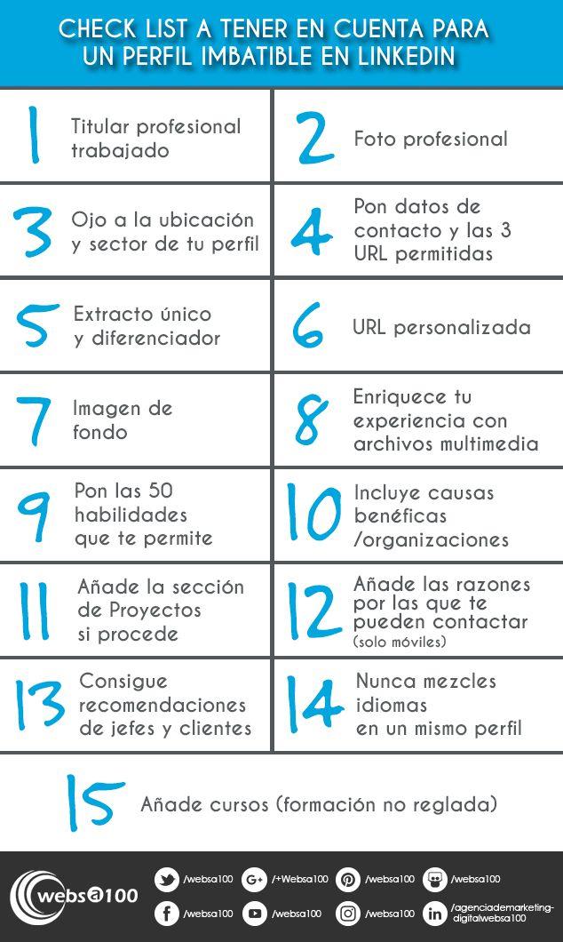 Infografía con consejos sobre el perfil LinkedIn