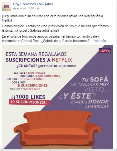 Estrategia en Redes Sociales: Facebook de Isabel