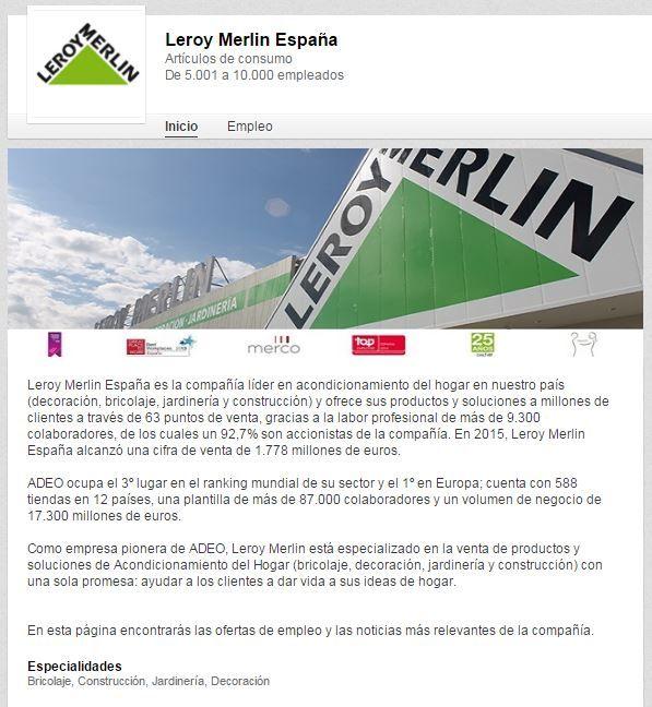 Leroy Merlin en LinkedIn