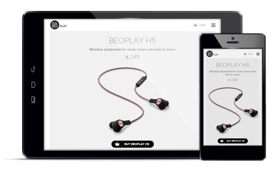 Beoplay - Diseño web responsive
