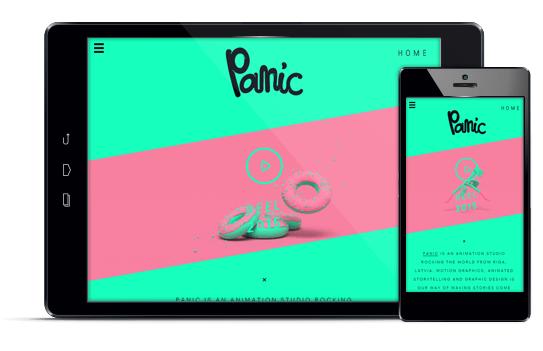 Panic - Diseño web responsive