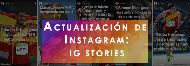 Imagen que resume la comunicación de un medio en IG Stories