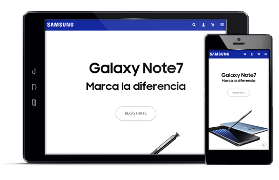 Samsung - Diseño web responsive