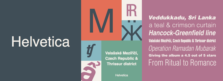 Google web font Helvetica