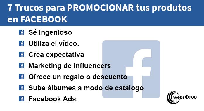 7 trucos promocionar tus productos en facebook