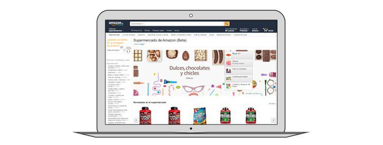 Ejemplo diseño ecommerce Amazon