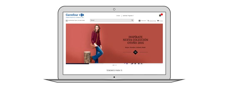 Ejemplo diseño ecommerce Carrefour