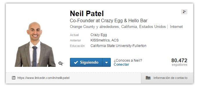Expertos SEO: Neil Patel